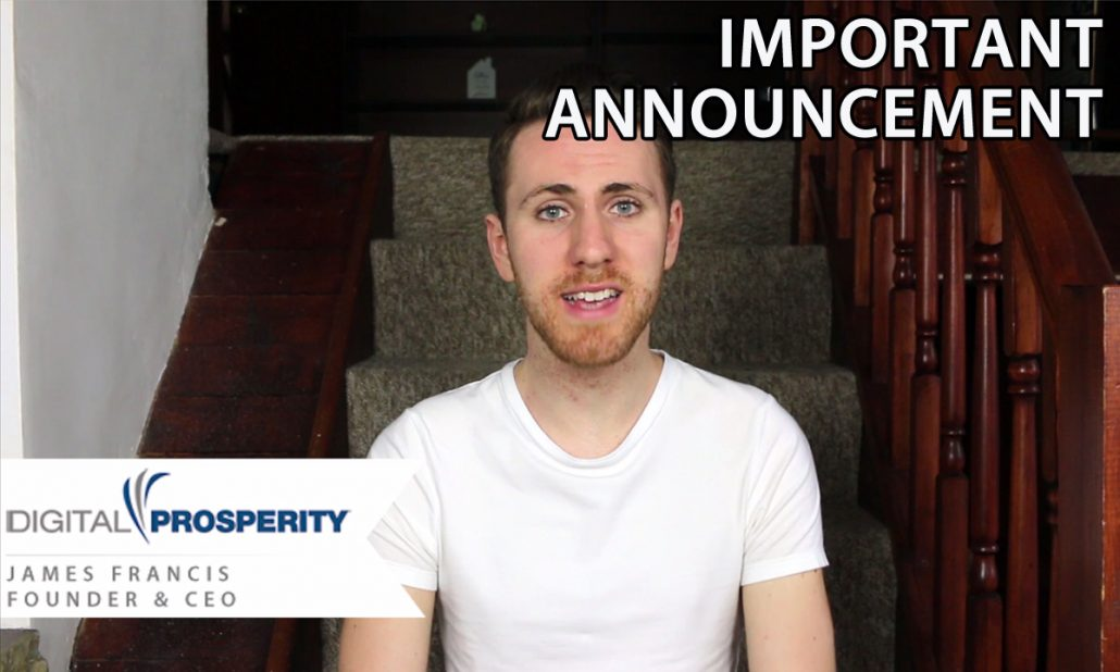 Important Announcement From Digital Prosperity